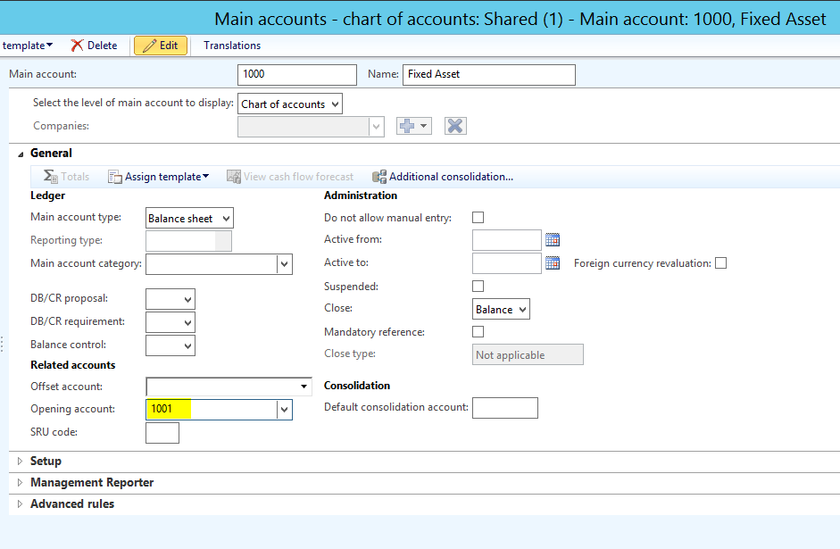 opening balance sheet example
