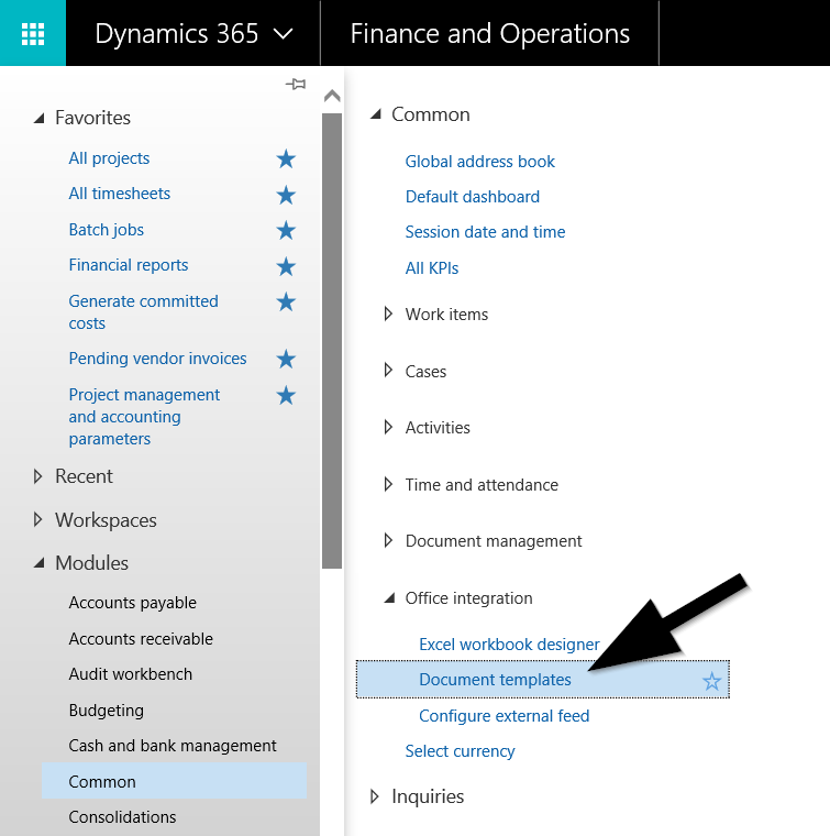 dynamics 365 general journal excel imports finance and operations